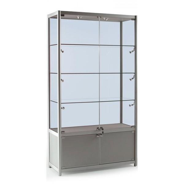 Витрина из алюминиевого профиля с дверьми