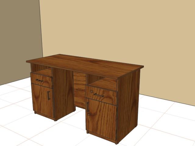 Стол письменный 750х1200х600 с двумя тумбами