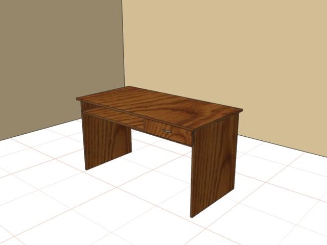 Стол письменный с полкой и ящиком