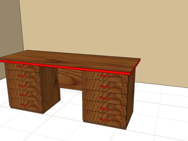 Стол письменный 750х1800х600 с ящиками ,ЛДСП 25мм