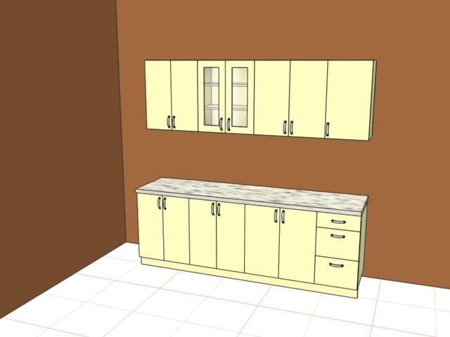 Кухня общая ширина 2300мм