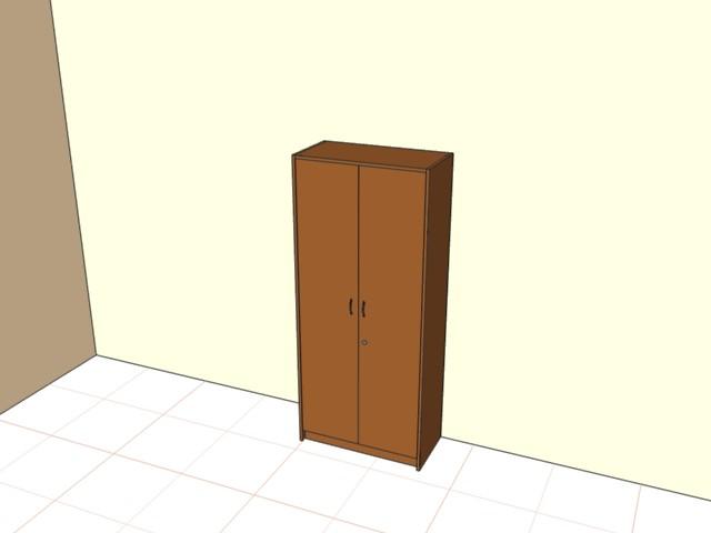 Шкаф с ЛДСП дверьми